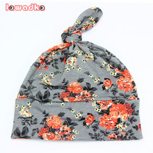 2016 Spring Autumn Flower print Cotton Baby Hat Girls Boys beanie Toddler Infant Kids Caps Lovely bonnet Accessories(China (Mainland))