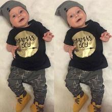 New 2016 NewBorn Baby Boy Clothes Summer Bebes Bebek Giyim Kids Children Clothing Set Roupa Infantil 2pcs Roupas Infantis Menino