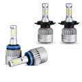 H4 H7 H11 COB LED Car Headlight Bulb Single Hi Lo Beam 8000LM 6500K Auto Led