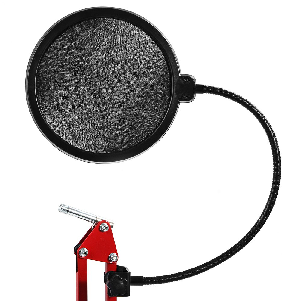 TOPS Flexible Microphone Studio Wind Screen Pop Filter Mask Shield for Broadcasting Recording Microphone with Gooseneck Design(China (Mainland))