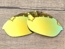 Polycarbonate-24K Golden Mirror Replacement Lenses For Half Jacket Sunglasses Frame 100% UVA & UVB Protection