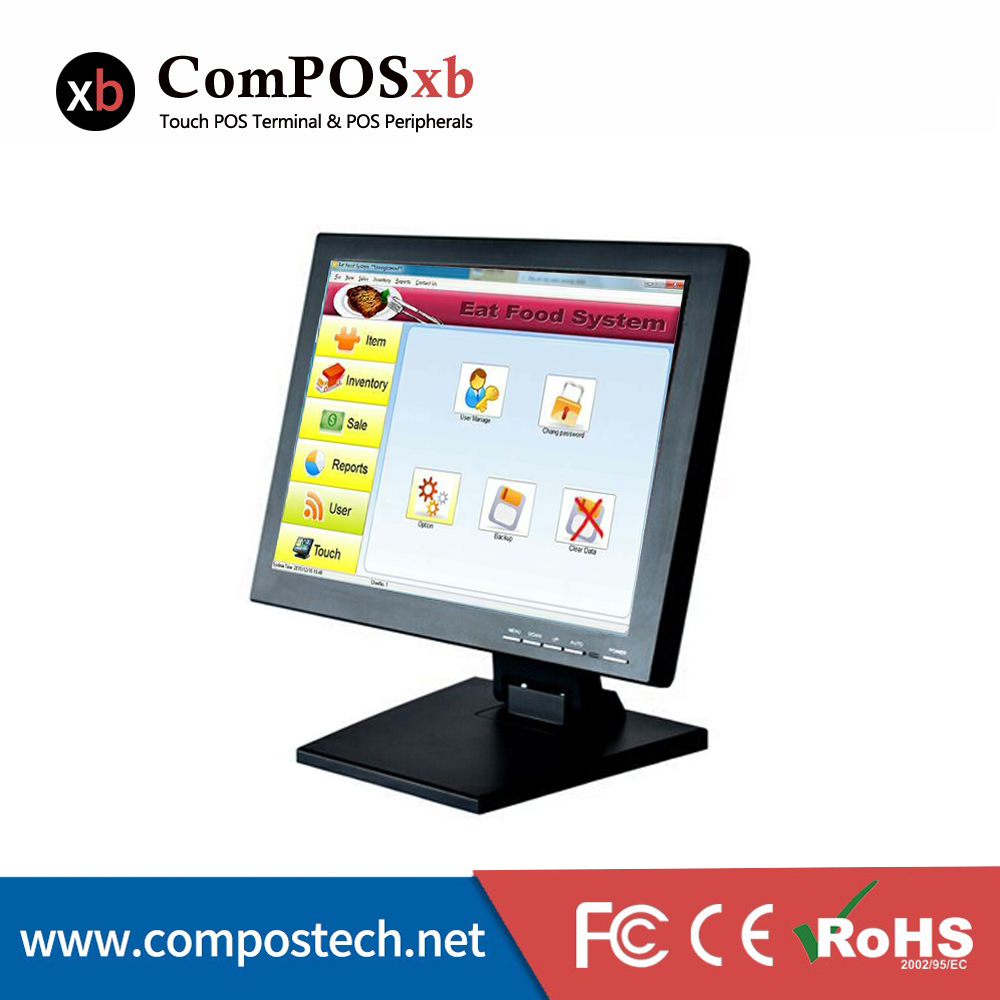 Pos monitor/Desktop touch monitor /computer display monitor 15 inch touch screen LCD monitor