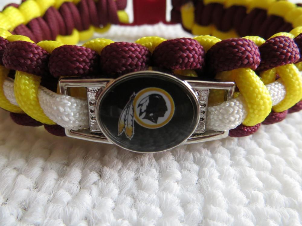 7'&8' 'Washington Red Skin charm paracord bracelet free shipping(China (Mainland))