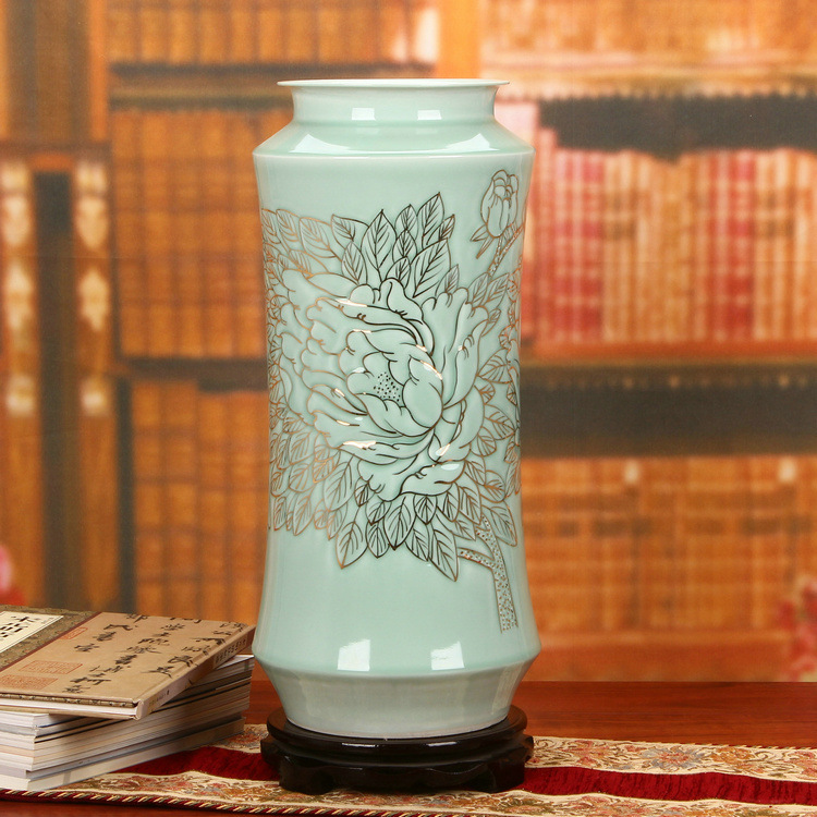 Qing Dynasty Ancient Home Decorate Porcelain Vase Blue And
