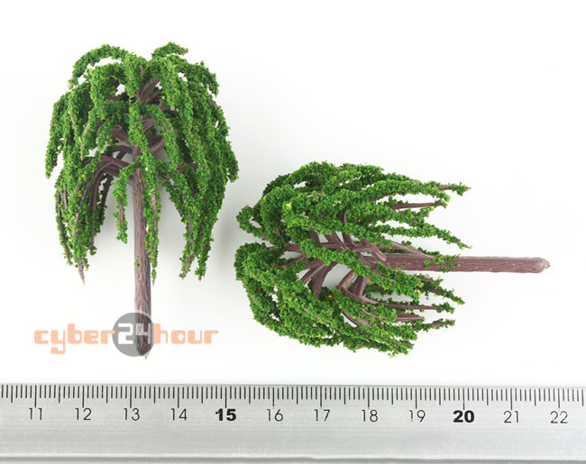 New 25pcs Lot Model Willow Trees Rail Garden Park River Road Scenery Scale HO 1:100 Layout(China (Mainland))