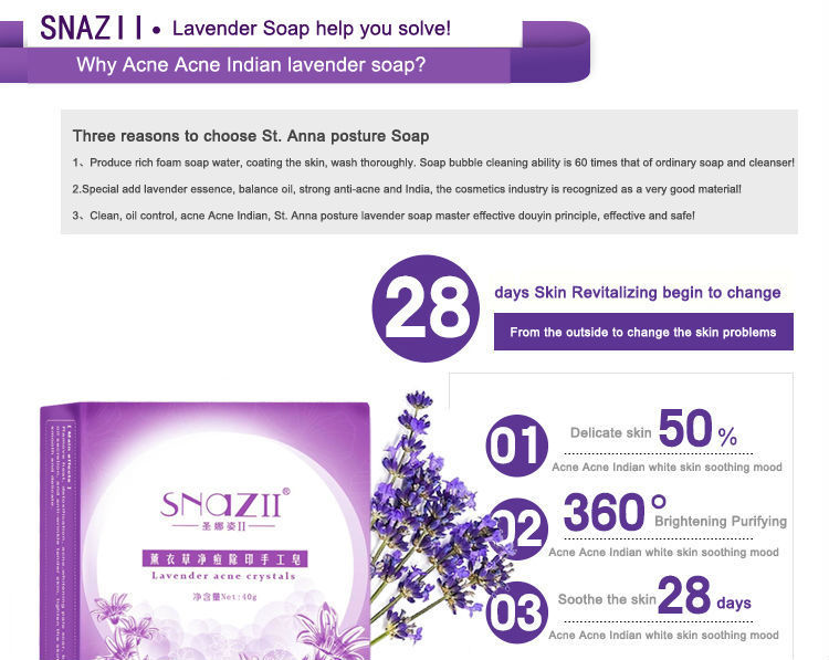 2015 SnazII Repair Acne handmade soap scar face soap bath whitening acne,face care jabones,The gift for valentine day(China (Mainland))
