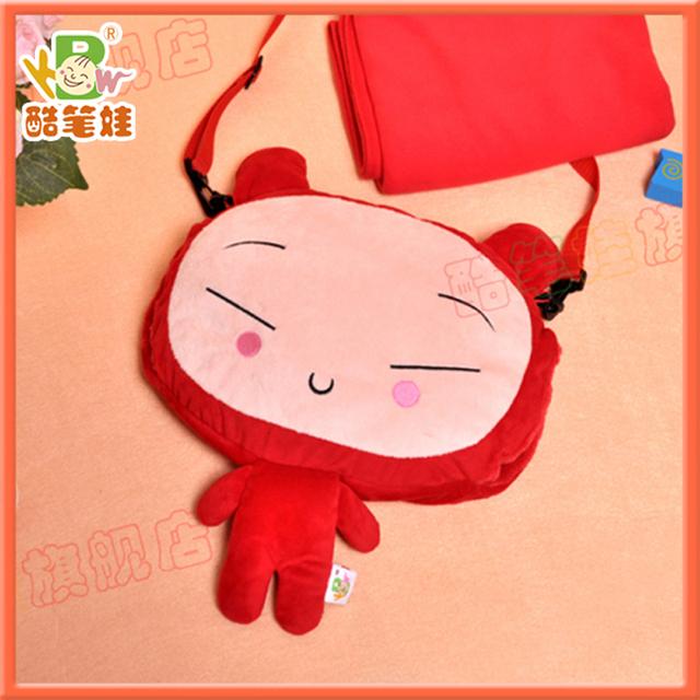 Original brand lovely  plush doll hand warmer cushion blanket coral fleece blanket pillow cushion
