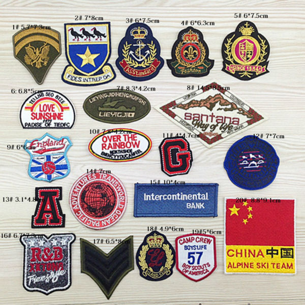 Military symbol shield logo badge iron-on patch Made of Cloth Embroidered Applique wholesale 100pcs/lot(China (Mainland))
