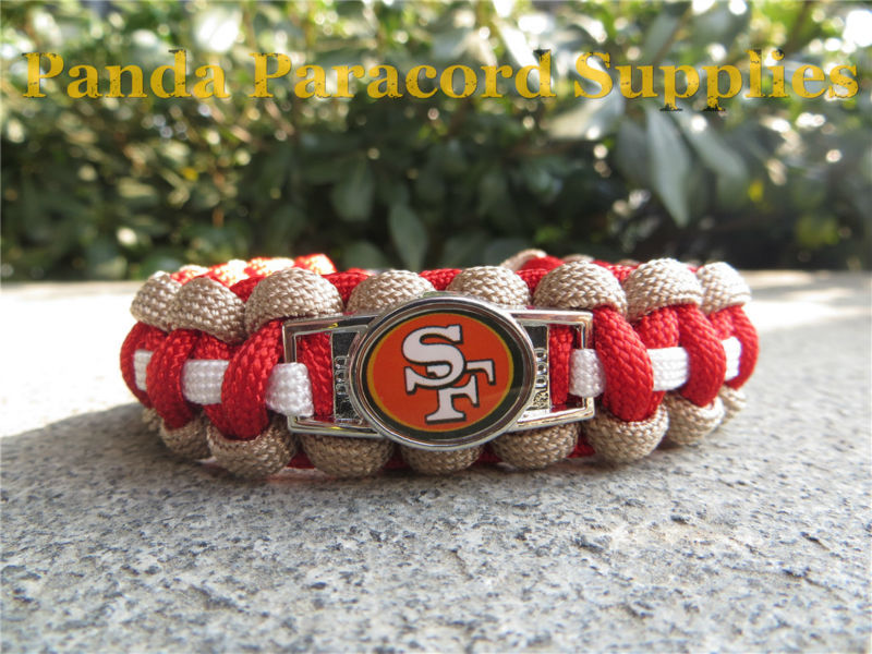 NFL San Francisco 49ers 550 paracord bracelet with plastic buckle(China (Mainland))