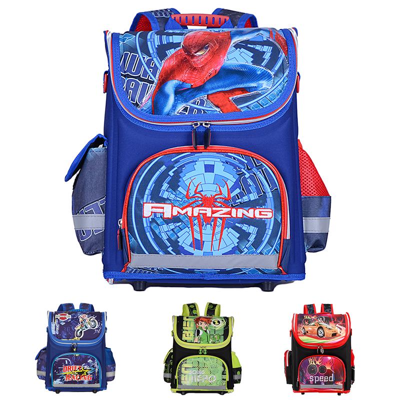 New Children School Bags For Boys Orthopedic Waterproof Backpacks Child Boy Spiderman Book bag Satchel Knapsack Mochila escolar(China (Mainland))
