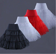 Short Wedding Petticoats for Wedding Dress Black crinoline girls enaguas novia underskirt rockabilly petticoat jupon mariage