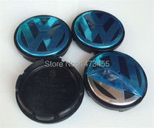 High quality 4pcs Free shipping 55mm VW wheel center hub cap cover sets Fits For Volkswagen BORA JETTA PASSAT LOGO 1J0 601 171(China (Mainland))