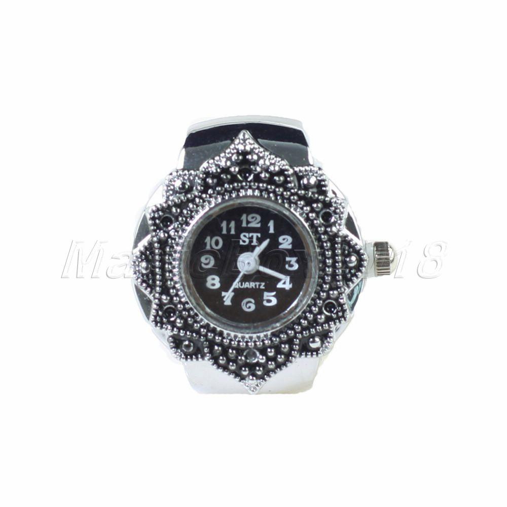 Hot Sale Creative Steel Quartz Watch Tibet Petal Watch Round Finger Ring for Universal Men And Women Free Shipping(China (Mainland))