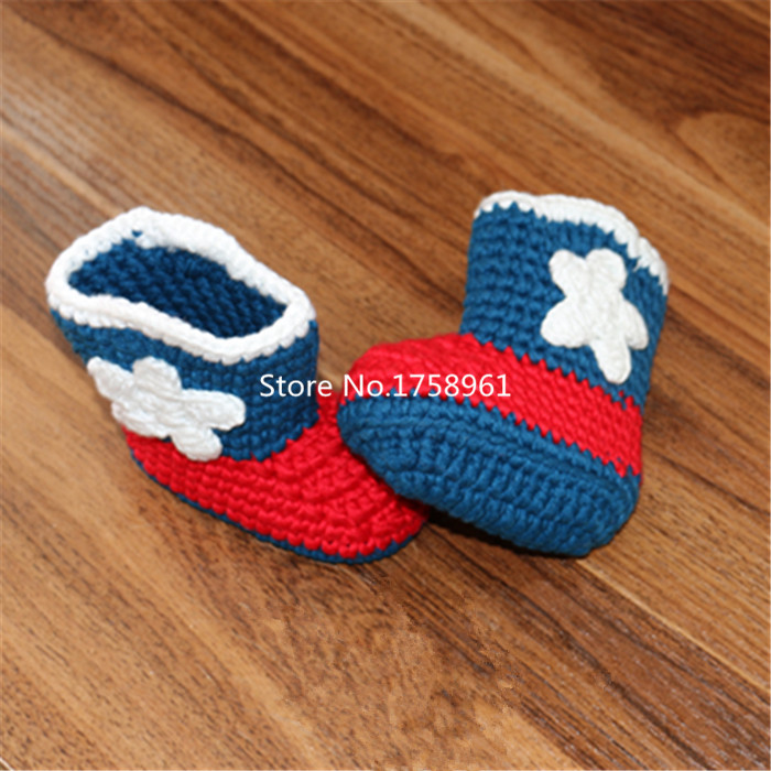 Baby Shoes Infants Crochet Knit  Boots Toddler Girl Boy  Crib Shoes Winter Booties