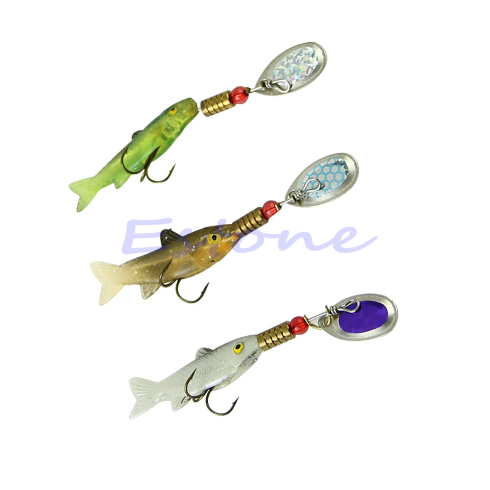 Sinking Lifelike Fish Paillette Fishing Lure Tackle Treble Hook Spinner Bait New(China (Mainland))