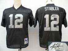 Signature Edition 100% Elite men Oakland Raiders 12 Kenny Stabler 16 Jim Plunkett 25 D.J. Hayden 32 Marcus Allen 42 Ronnie Lott(China (Mainland))