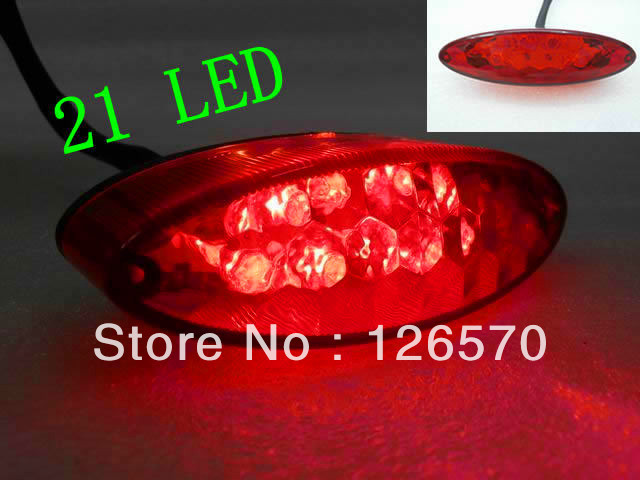 RED Motorcycle LED ATV Brake Tail Stop Light for Motorcycle Cafe Racer Dirt Bike MX KTM Honda Yamaha Kawasaki Suzuki Supermoto