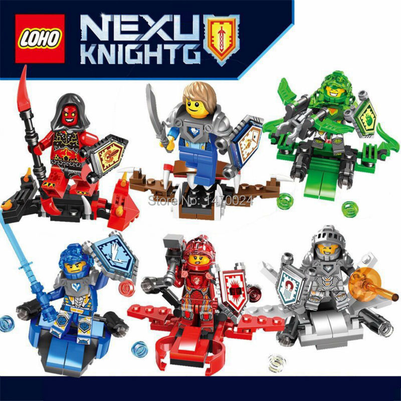 6pcs/lot Nexus Knights Future Knight Castle Warrior 2016 New Building Block Minifigures Bricks Kid birthday Christmas Toy Gift(China (Mainland))