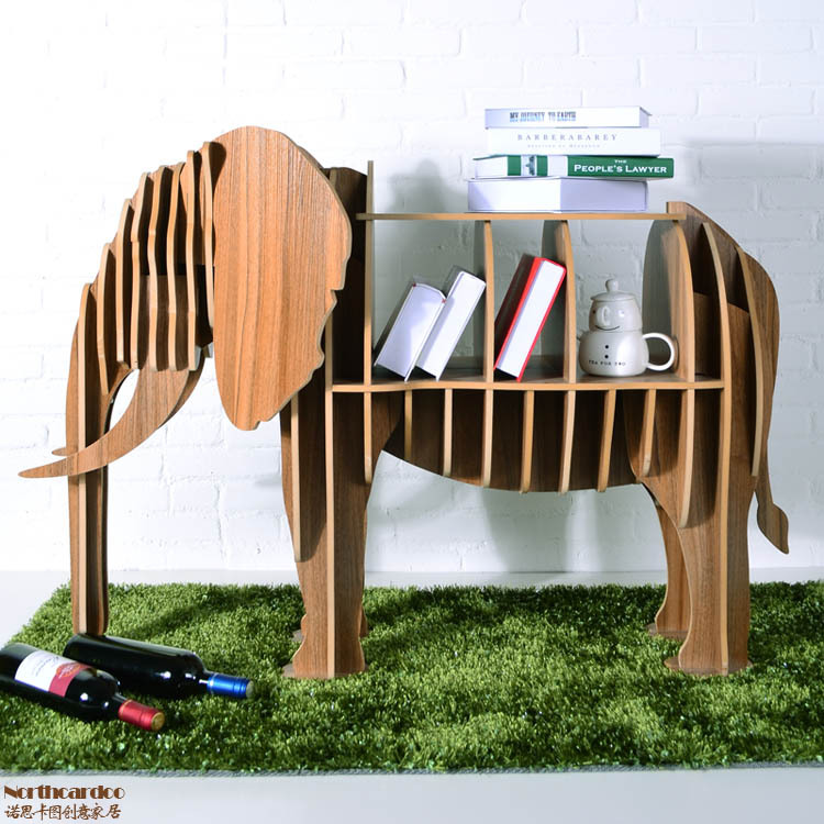Elephant Puzzle Table Creative Animal Furniture Mdf Diy Embled For Fashion Living