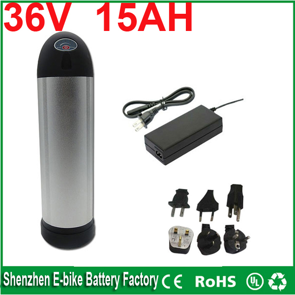 Electric bicycle battery 36V 15AH Water bottle water kettle 550W li-ion battery rechargeble battery with BMS and Charger<br><br>Aliexpress