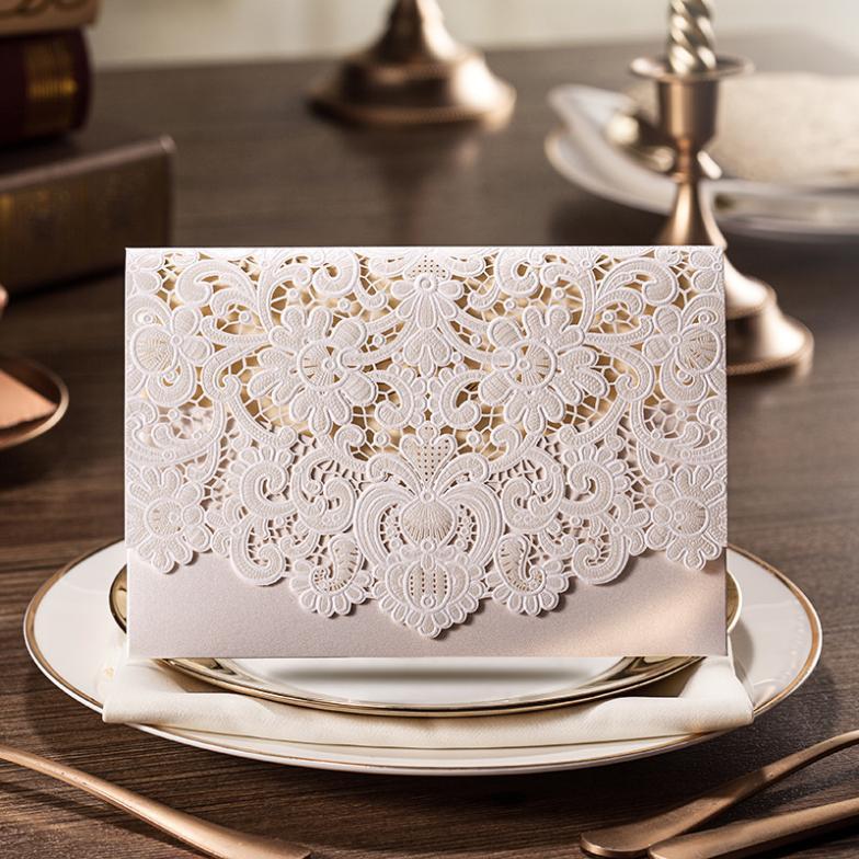 Wedding Invitation Card Laser Cut Wedding Invitation White Laser Cut Wedding Invitation Cards With Free Shipping(China (Mainland))