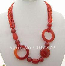 Beautiful! Natural Carnelian Necklace+free shippment(China (Mainland))