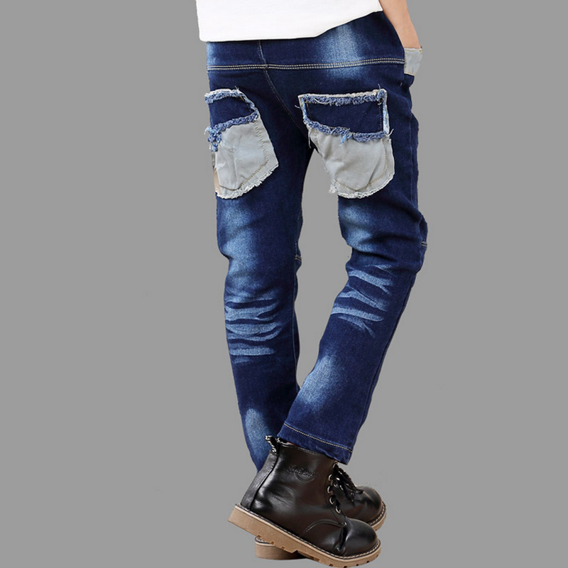 Spring Autumn Fashion Straight Jeans Kids High Quality Trousers Min Waist Full Length boys Denim Jeans Fit 3-12T Kids Pants(China (Mainland))