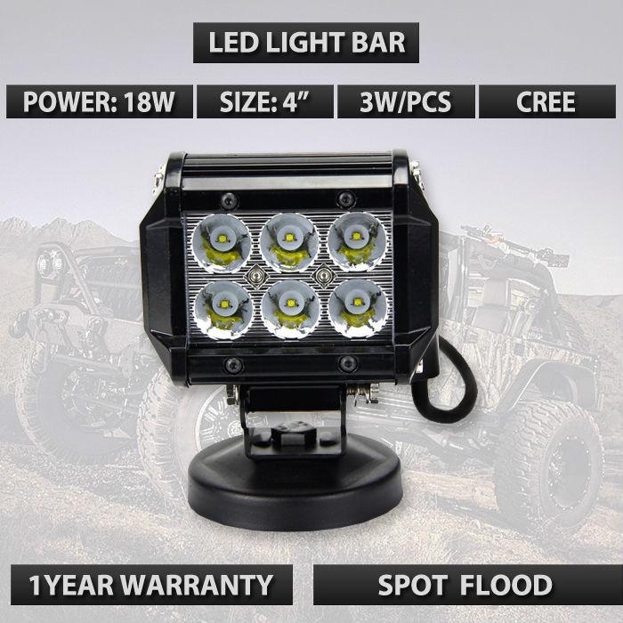 10v-30v 4 inch offroad led light bar 18w cree cheap price from China factory 6leds mini led cree work light bar external light(China (Mainland))