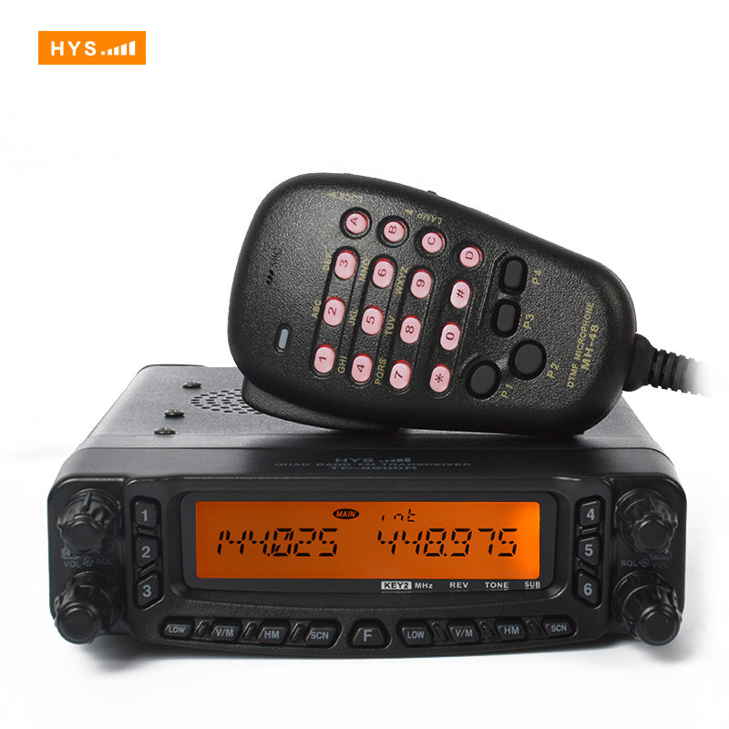 Walkie Talkie pair Two Way Radio Station Car CB Radio 27/50/144/430MHZ Quad band mobile radio with DTMF Microphone TC-8900R(China (Mainland))