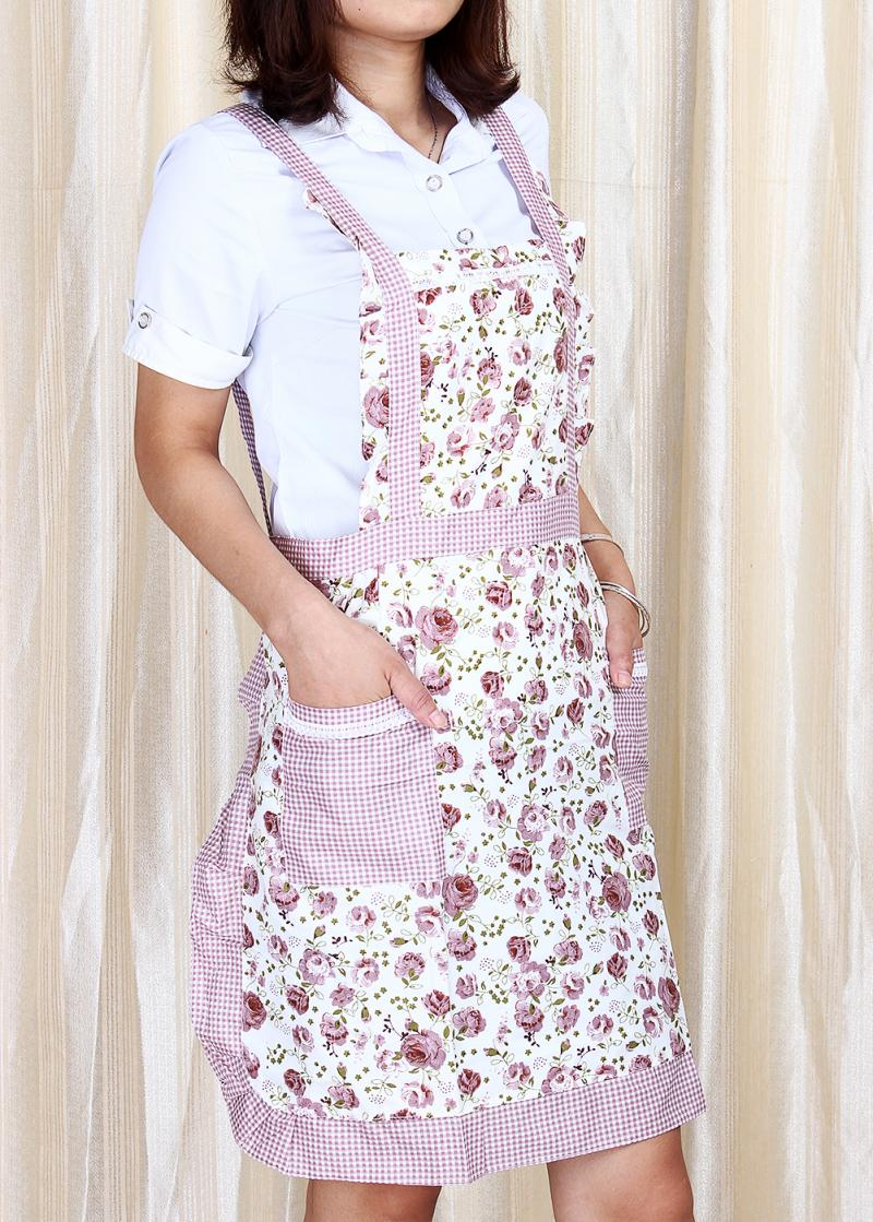 New Hot Apron Floral Courtney Women Ladie Kitchen Hostess Apron Cooking Fancy Cooking Apron Chefs Kitchen Use(China (Mainland))