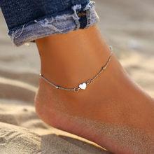 自由奔放に生きる夏の海のビーチ Cowrie シェル足首のブレスレットビーズ石マルチ層アンクレット女(China)