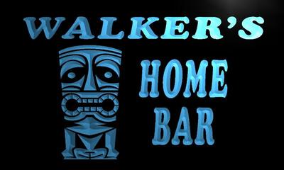 x1025-tm Walker's Home Tiki Bar Custom Personalized Name Neon Sign with On/Off Switch 7 colors(China (Mainland))