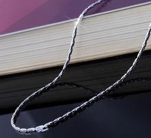 Посеребренные цепи ожерелье в наличии длина 16 18 20 22 24 26 28 30 дюймов оптовая женщины аксессуары ожерелье цепи(China (Mainland))