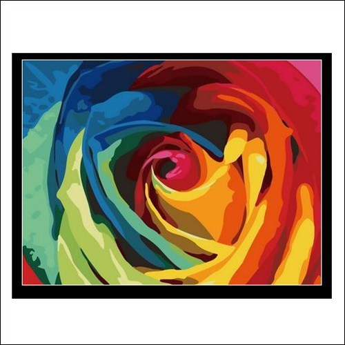 Diy digital oil painting decorative abstract painting rose oil painting rose 30 40