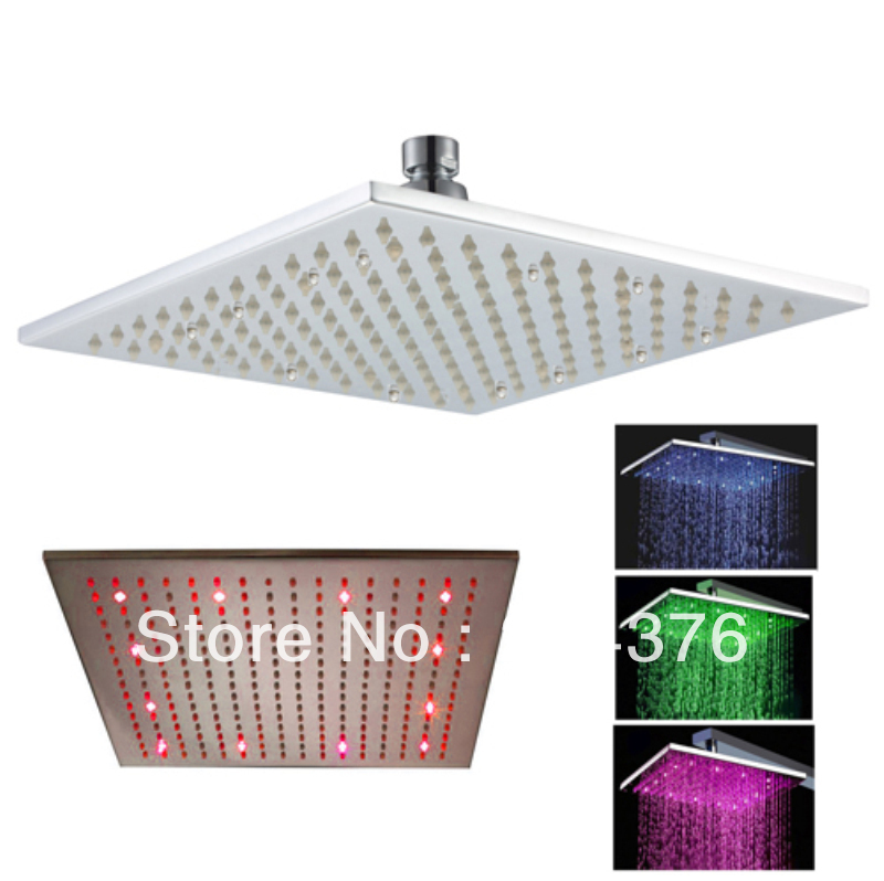 simple innovating products square led change color shower head light(China (Mainland))
