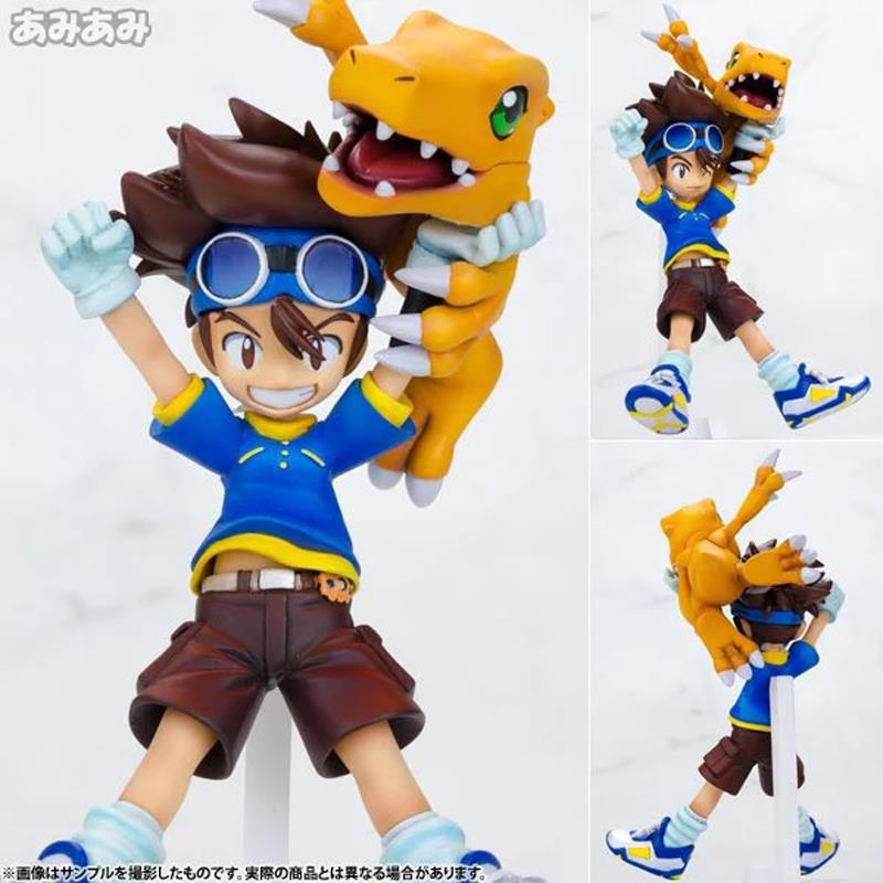 Digimon Figure 10cm font b Anime b font Digimon Adventure Yagami Taichi Agumon PVC Action Figures