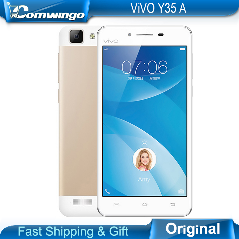 New Original Vivo Y35A 5.0 inch Quad-Core 13.0MP camera 1280*720P 4G FDD-LTE GPS 2G RAM 16G ROM WIFI Android 5.0 Free shipping(China (Mainland))