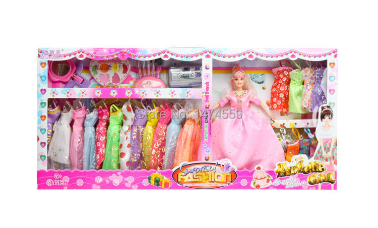 645 fashion dolls for girls with accessories DIY barbiee Doll princess doll toys wholesale dress Christmas toys barbiee girl(China (Mainland))