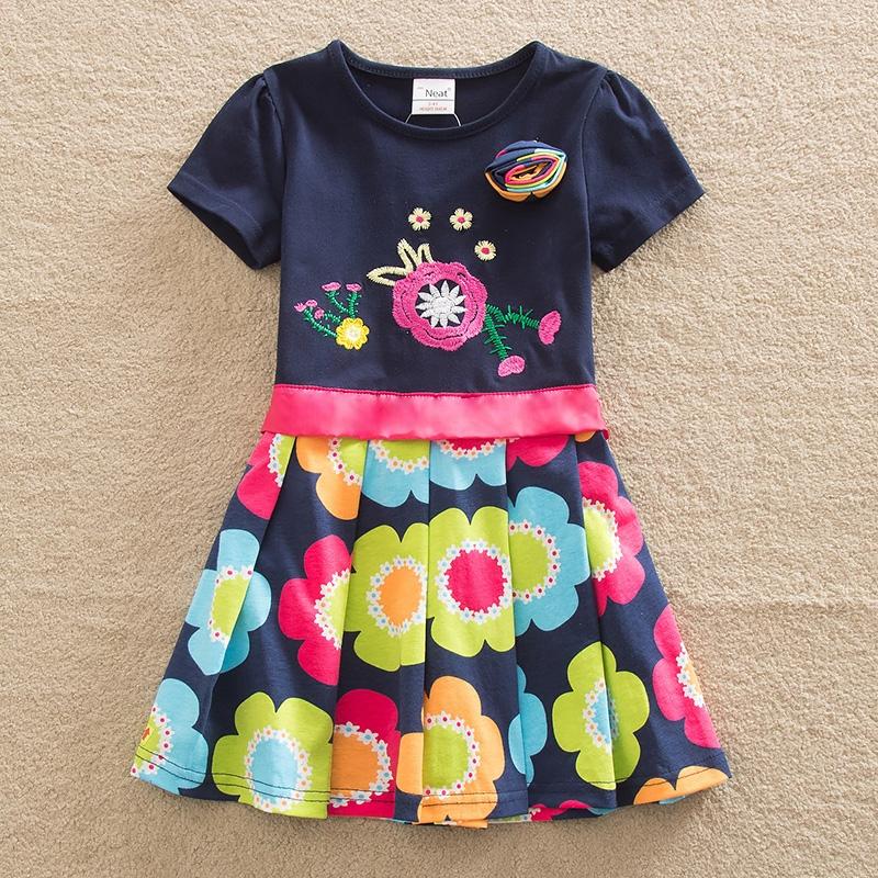 Retail 3-8Y 2015 neat brand dress baby girl Cartoon Children lace tutu party fashion princess dresses vestidos cloth wear SH5868(China (Mainland))