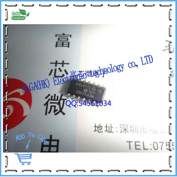 1 Free shipping 100 k digital potentiometer MCP42100 - I/SL SOP14 original shop to 100%New original(China (Mainland))