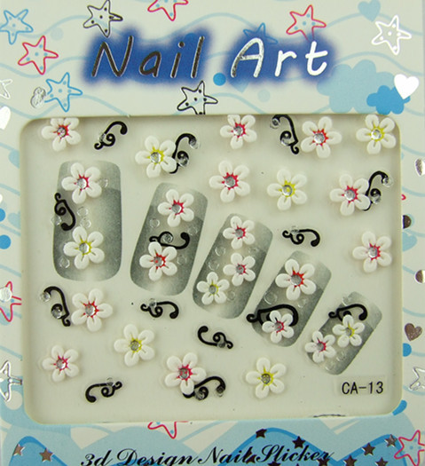 Low price Nail Art Stickers DIY Decoration Flower design nail sticker For nail accessories 3D(China (Mainland))