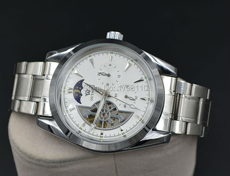 Free shipping Activity man 051  automatic mechanical watches series table steel band super luxury watch diving(China (Mainland))