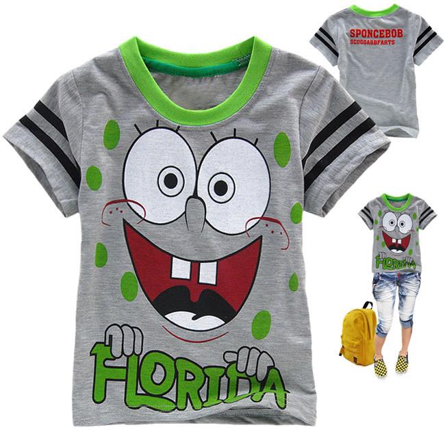 Cotton boys T-shirts Kids Casual Tee Summer Children Shirt Cartoon Child Tops Drop Shipping