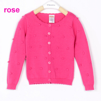 Free shipping NWT 5pcs/lot girl candy colors spring autumn cardigan with solid dots, sweatercoats with five colors