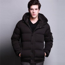Winter down jacket men 90 white duck down hooded thicken classical down coat jacket men outdoor jackets(China (Mainland))
