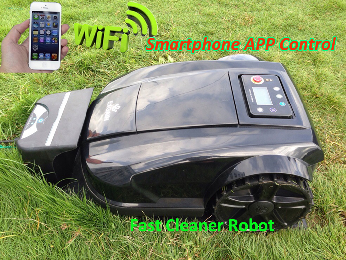 2016 Newest 4th Generation Intelligent Robot Lawn Mower Updated with WIFI Smartphone App Control With NewestRange Function(China (Mainland))