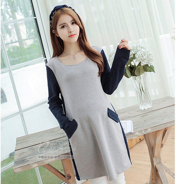 Free Shipping Maternity Dress Casual Cotton Maternity Clothes Plus Size ladies Patchwork Pregnant Dresses vestido amarelo<br><br>Aliexpress