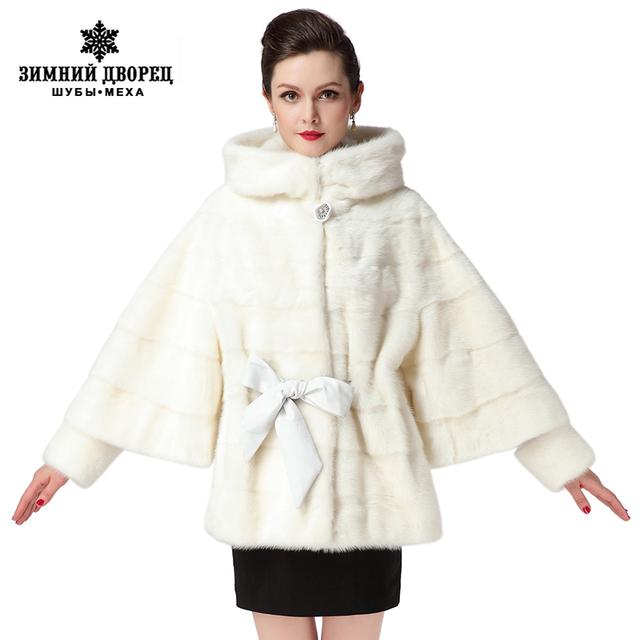 2016 Best Seller white fur coatGenuine LeatherBat Sleeved Women