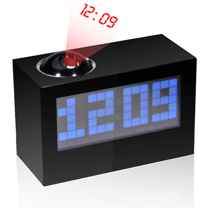 Modern Digital Projector Alarm Clock LED Alarm clock + Projection + Weather 3 in 1 with Colorful Backlight(China (Mainland))