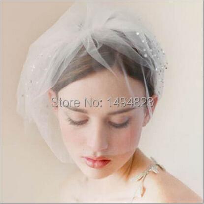Europe and United States popular wedding veil bride headdress gauze veil etiquette Hat hair ornaments rhinestone Hairpins 3538(China (Mainland))